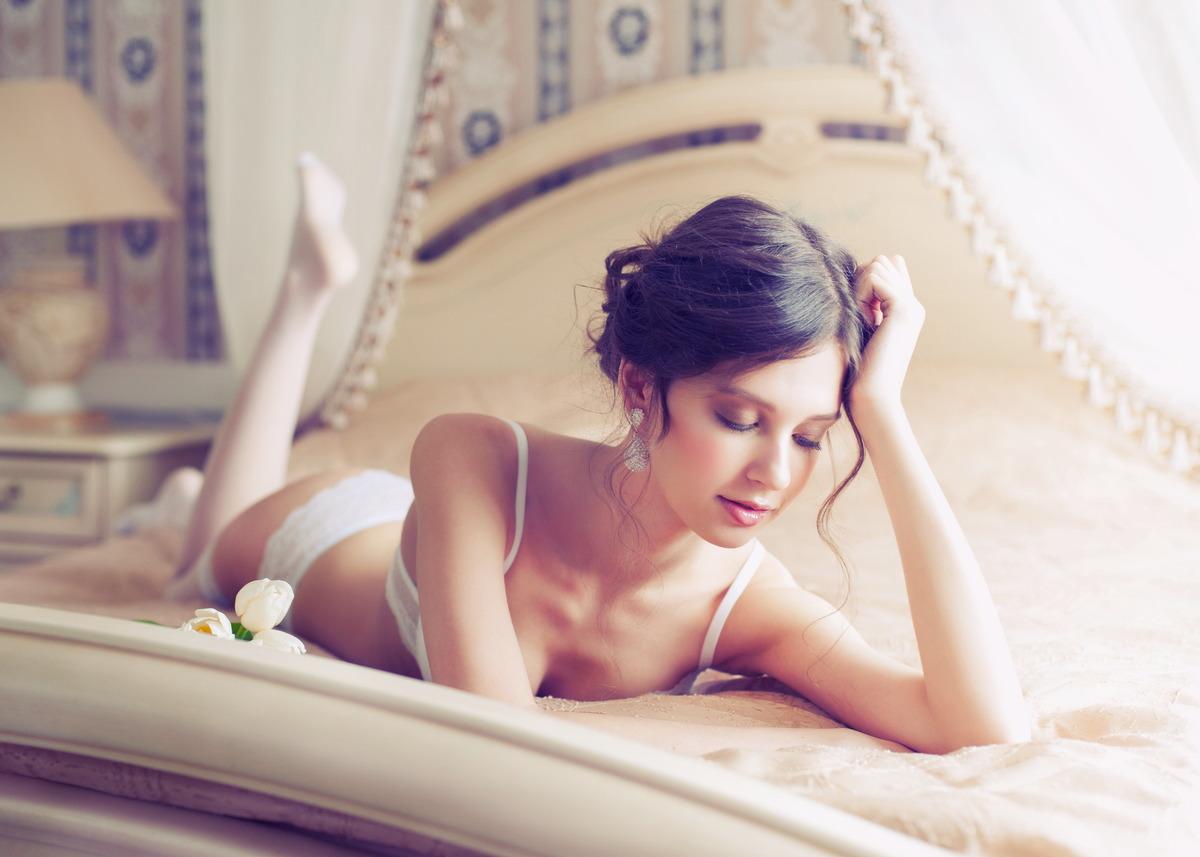 Sexy Girl sonnt sich