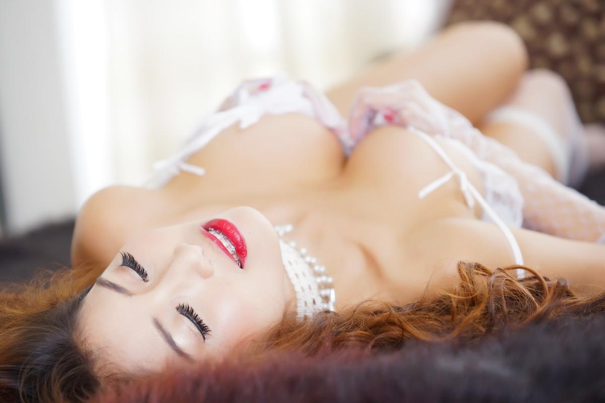 Sexy Girl entspannt sich