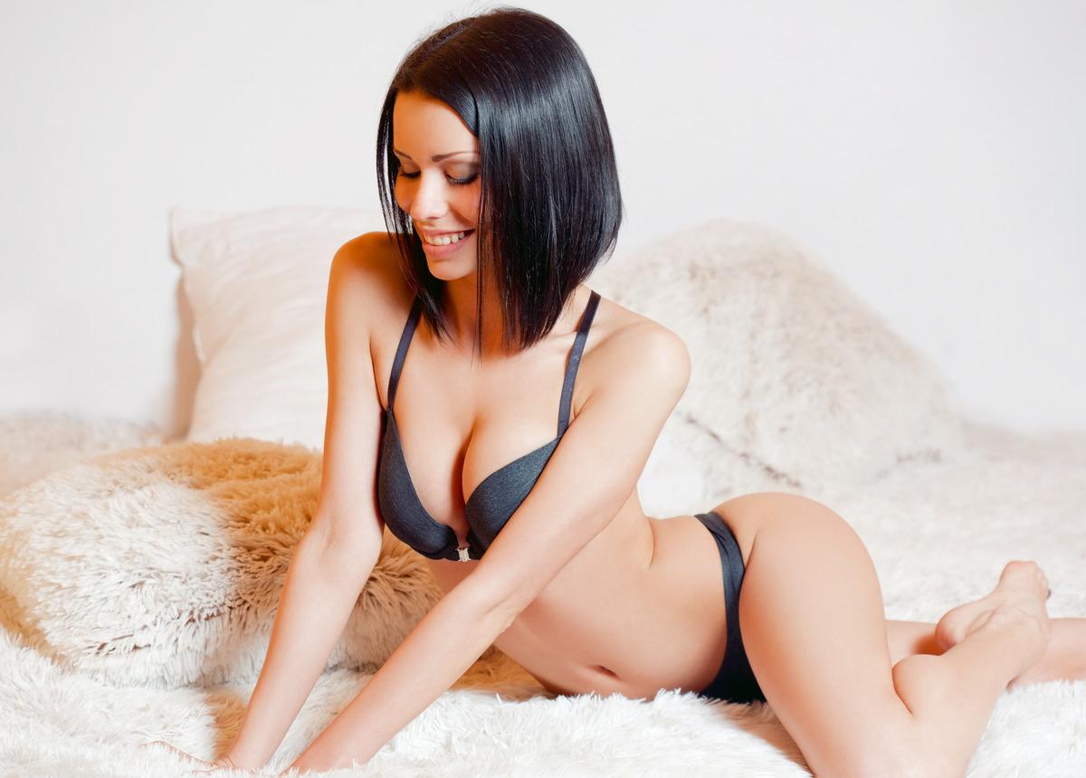 Sexy Girl freut sich