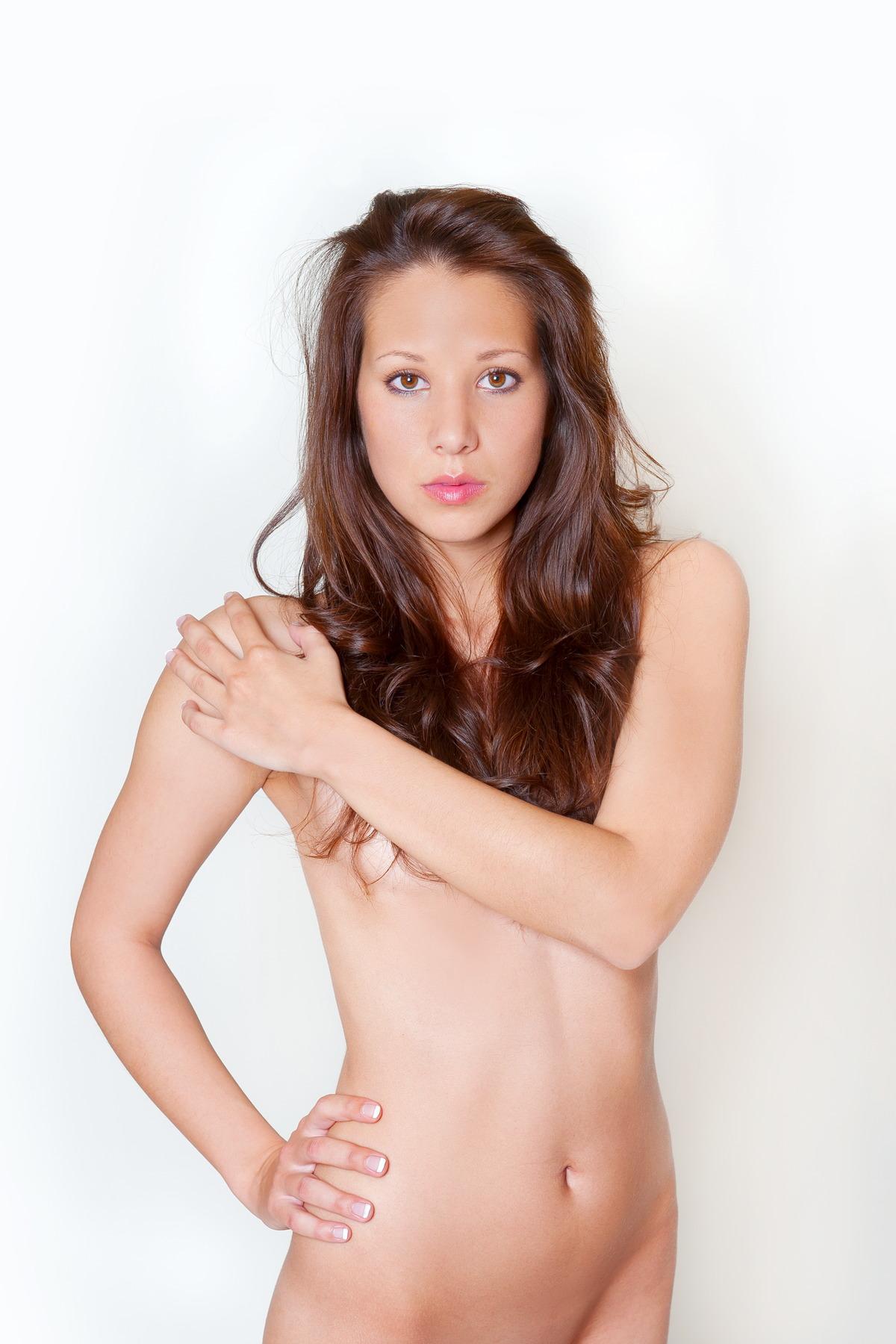 Sexy Girl ist überrascht