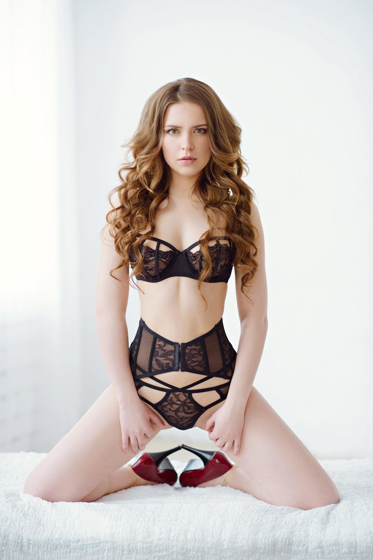 Sexy Girl wartet gespannt